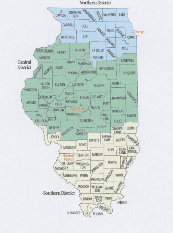 map of illinois federal districts